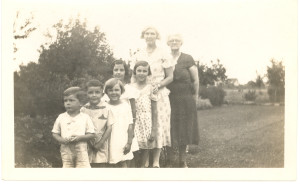 Anna Pollock Anderson and daughter, Amanda (Anderson) McDonald in Saskatchewan, Canada,with the McDonald children when young.