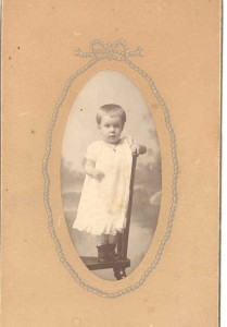 Frances Gaither (Anderson) Lewis (later Mrs. Paul Lewis), when she was a child growing up at New Brighton, Pennsylvania (daughter of Isaac Cord Anderson, Jr.) DE: 106-107.