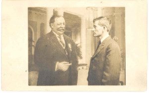 Francis Gaither Anderson with President William Howard Taft at the Panama Canal Construction Zone, when the President was visiting. DE: 106-107.