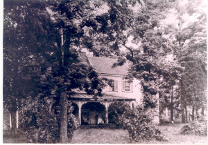 Providence Plantation Home at Woodwardville, Anne Arundel County, Maryland, as it appeared circa 1885 to 1890, or thereabouts, with Mrs. William Thomas Anderson, Sr. (Hannah Moler Anderson) seated on the front porch. Most of the farm (including the home) was sold following her death a few years later. The home survived until the post World War II period. Photo courtesy of Miss Judith Anderson of Linthicum Heights.