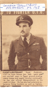 Another image of Leonard John (Bill) Anderson, of Saskatchewan, Canada, son of Absalom (V) Anderson and his first wife.