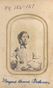 Margaret Beard Anderson, first wife of Samuel Anderson, Jr. DE:116.
