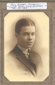 Roy Mitchell Anderson, of New Brighton, PA, as a young man. Only son of Isaac Cord () Anderson, Jr. (son of Isaac Cord (II) Anderson, Sr., and Lucy Caroline (Gaither) Anderson.