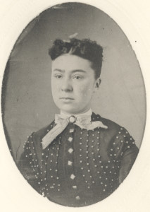"Jennie Hall Canter. Unless this is a photograph of Mrs. Isaac White Canter herself, this may be in actuality Jennie Collinson, the granddaughter of Reverend and Mrs. Canter who became the ""administrative"" ""nurse in charge"" for many years at the Old Annapolis and Anne Arundel General Hospital. If so, she was a daughter of Julia Comfort Hall, the daughter who married Benjamin Collinson, Sr., of South River (the Canters only daughter)."