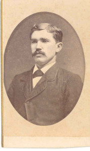 """William Thomas Disney. DE: 87. Relocated to, and farmed near, Ottawa, Kansas, along with some of his brothers, and they were probably the Disneys with whom the two Anderson brothers, Absalom (IV) and James Williams, resided and """"worked for"""" on their way """"West"""" in the 1880s-1890s."""