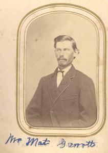 Matt Garrott - In Mrs. DuLaney's Anderson genealogy, he is identified as a son of Allen Franklin and Virginia (Henkel) Garrott who married in 1907.