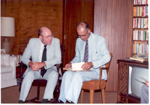 "William W. Hill and Marvin Anderson at the ""Anderson Dinner in Pasadena, CA,"