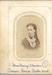 Mary Mereer. Not identified at this time. George Moler's Aunt