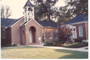 A photograph of St. Stephens Church at Crownsville.