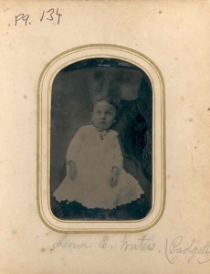 Lena E (Waters) Padgett. Her husband was Marvin Padgett, and they were long-time residents of Woodwardville. She was a sister of J. Irving Waters and others.