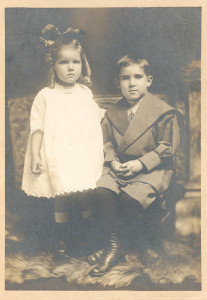 Franklin Hanson and Clara E. Ways, who were grandchildren of Isaac Cord (II) Anderson, Sr., and Lucy Caroline (Gaither) Anderson, of, eventually, Crownsville, Maryland. DE:107. They were two of the three children of one of Isaac's daughters, Edna (Anderson) Ways Condon.