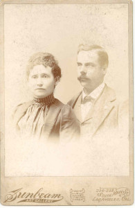 Julia Wilcox and husband. Not further identified.