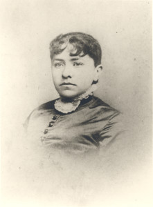 Mrs. William N. Woodward, one of the two Ashwell sisters, from New Jersey, whom two Woodward cousins, George Hardesty Woodward (son of Rignal Duckett Woodward) and William Nicholas Woodward (later Clerk of the Circuit Court for Anne Arundel County) married. The two Ashwell sisters probably met their future husbands at Abington farm at Millersville, Maryland, while visiting there from New Jersey, where George Hardesty Woodward's older brother, Rignal Thomas Woodward, lived, while he was employed, for most of his working career, at the New York office of the Woodward, Baldwin companies, cotton brokers, etc.