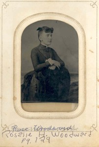 Rosalie H. Woodward. DE: 94. She was a daughter, who died when she was young, of Henry Woodward and Margaret (Anderson) Woodward.