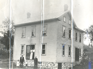 The home of Allison Kenton Wagoner and Priscilla Baker Wagoner in three springs Pa. Allison is holding hands with Mabel Anderson and Robert A. Anderson, his grandchildren. The picture was taken in 1891. Mabel died 16 years later, living only 5 days longer than her mother. The tragedy caused the remaining 6 children to be put up for adoption. As mentioned earlier, Robert got them all back together as adults with the exception of Gladys who was never found by Robert.