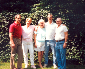The family of Robert Lee Anderson, from the left, T. Michael Anderson, Sue (Anderson) Hickes, Mary Arwilda (Burkholder) Anderson, James Lee Anderson, and Robert himself, taken in the early 1980's.