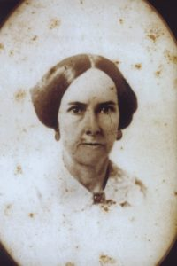"Sarah Hall Anderson, daughter of Richard and Elizabeth (Perkins) Hall, who married, as his second wife, William Anderson of Grassland. Sarah was the sister of his first wife, Susannah Hall Beck (who had earlier died while they were living at Harpers Ferry, (West) Virginia. By his first wife, William of Grassland had one son, William Henry Harrison Anderson, a Baltimore, Maryland, attorney; and, by his second wife, he had one daughter, Susannah Anderson Bowie, of Grassland (""Cousin Susie""), who married Colonel T. John Bowie, one time Provost Marshal for Northern Prince George's County, Maryland, during the War for Southern Independence. (Unfortunately, we do not (yet) have a picture or portrait of Colonel T. John Bowie (who died when he was relatively young) to exhibit. There once was a painting of him, possibly at Grassland, which was given by the Bowies to the late Claggett Bowie, who was a son of Captain John Bowie, Jr's uncle, the late Dr. William Bowie.)"