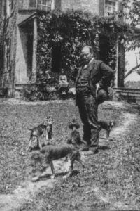 Sheriff John Bowie with hounds, at Grassland.